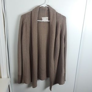 Ambience Beige Open Front Knit Sweater